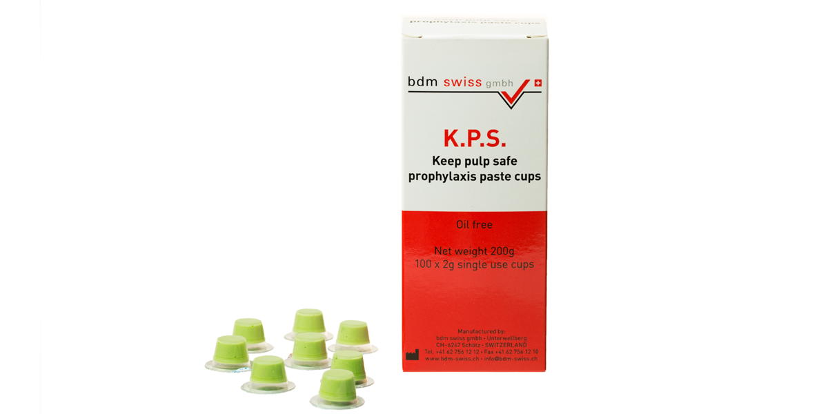 K. P. S. Keep pulp safe prophylaxis paste cups